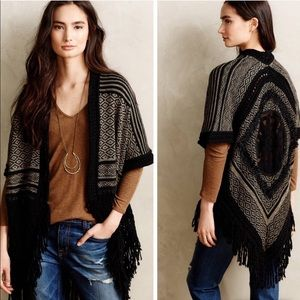 NWT Anthropologie Angel Of The North Poncho